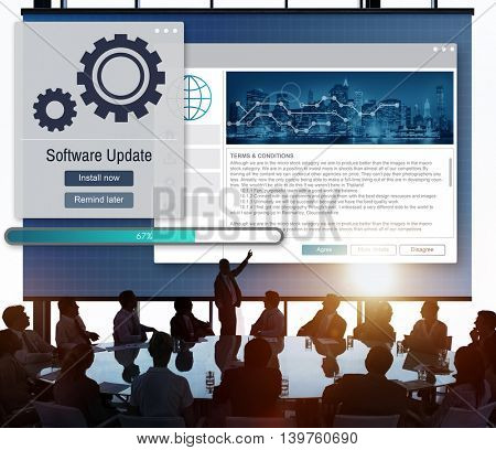 Software Update Installation Upgrade Data Concept