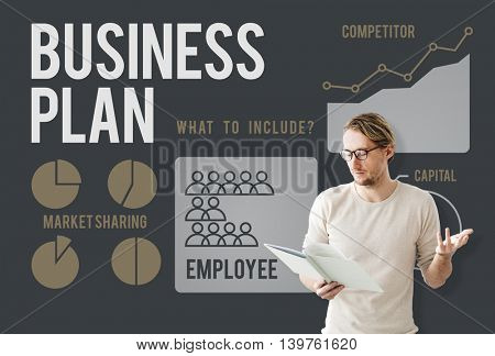 Business Planning Plan Employee Outcome Presentation Concept