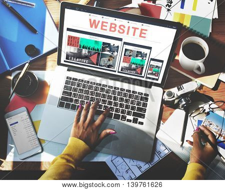 Website Data Internet Social Media Networking Concept