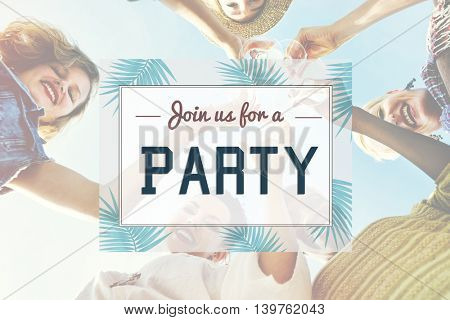 Summer Party Invitation Invited Celebration Concept