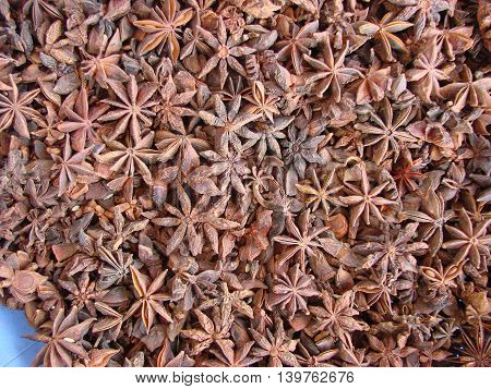 star anise in the markets in India