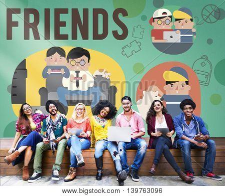 Friends Friendship Activity Leisure Concept