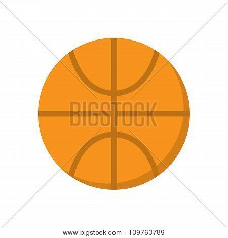 Basketball ball vector icon. Basketball sport pictogram.