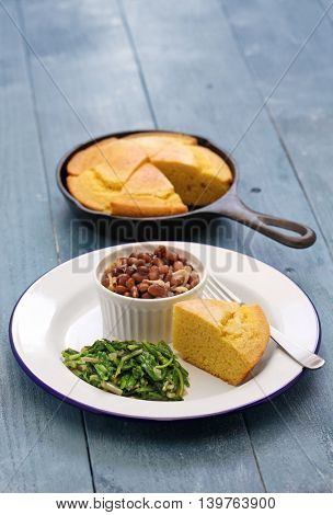 beans and greens with cornbread, cuisine of the Southern United States