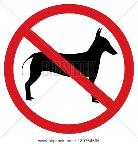 No dogs allow sign isolated on white background.