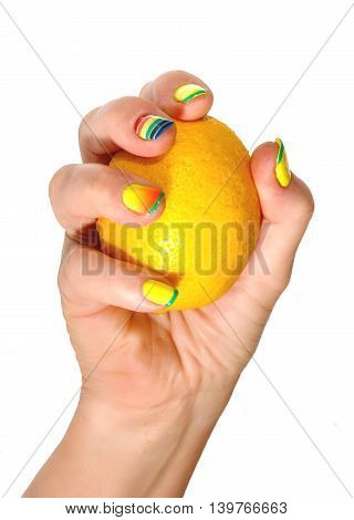 Female Hand With Lemon