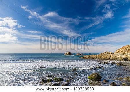 Ocean rocks near Almaciga village Tenerife Canary islands Spain