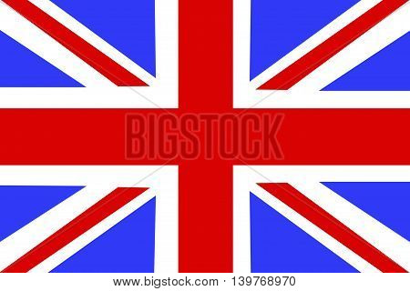 Flag of United Kingdom as background, illustration