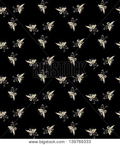 Seamless vector ornament. Modern geometric pattern with repeating elements. Black and golden pattern