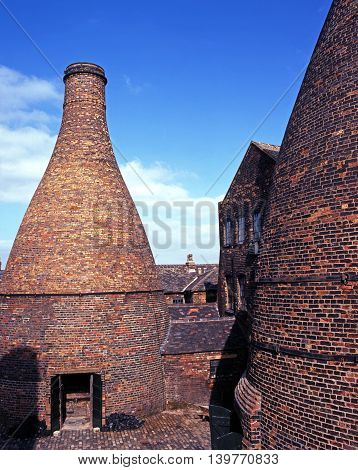 STOKE ON TRENT, UK - SEPTEMBER 10, 1997 - Bottle Kiln at the Gladstone Pottery Museum Stoke on Trent Staffordshire England UK Western Europe, September 10, 1997.