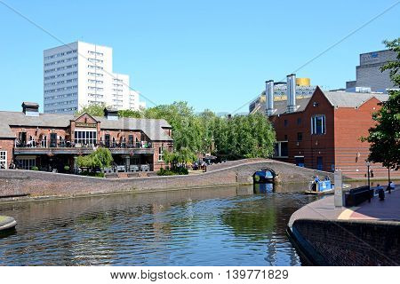 BIRMINGHAM, UNITED KINGDOM - JUNE 6, 2016 - View of The Malt House pub at Old Turn Junction Birmingham England UK Western Europe, June 6, 2016.