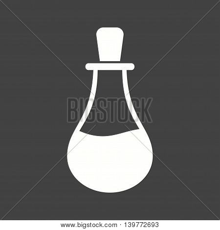 Flask, experiment, glass icon vector image. Can also be used for spa. Suitable for use on web apps, mobile apps and print media.