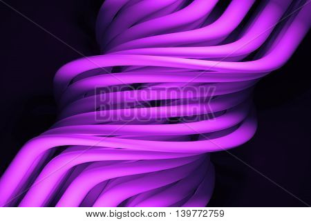 3d rendering abstract background with  twisted clones