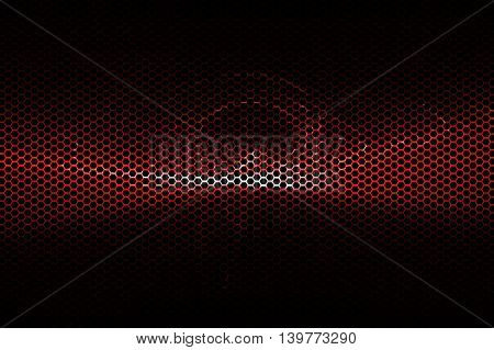 red metallic mesh and light energy digital background texture