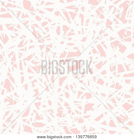Seamless freehand drawn background uneven texture with random strokes, vector illustration
