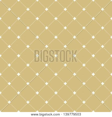 Geometric repeating vector pattern. Seamless abstract modern texture for wallpapers and backgrounds. Golden and white pattern
