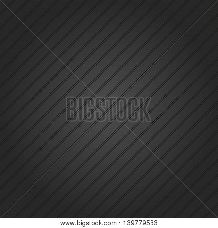 Abstract vector dark wallpaper with diagonal strips. Seamless colored background