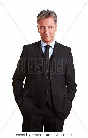 Content Senior Manager In A Suit