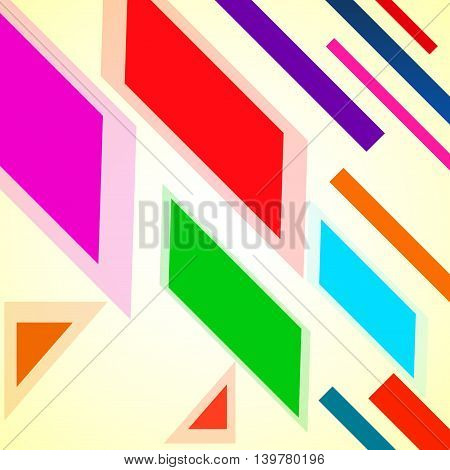 Abstract background with colorful geometric elements. Vector backdrop