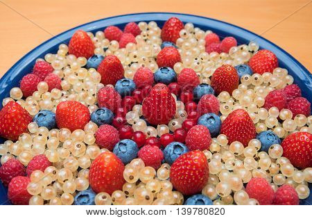 Plate With Various Berries, Detail Shot