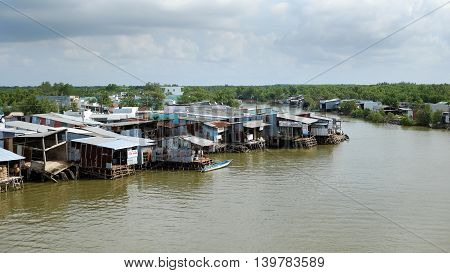 Residential Among Ca Mau Mangrove Forest