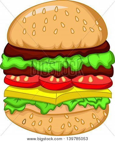 nice a big burger for your design