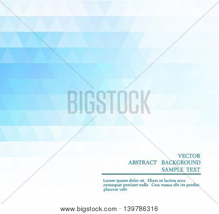 Abstract Blue Light Template Background
