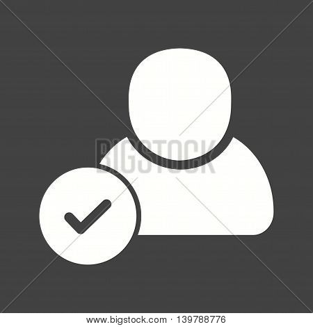 Recruitment, verifying, candidate icon vector image. Can also be used for employment. Suitable for use on web apps, mobile apps and print media.