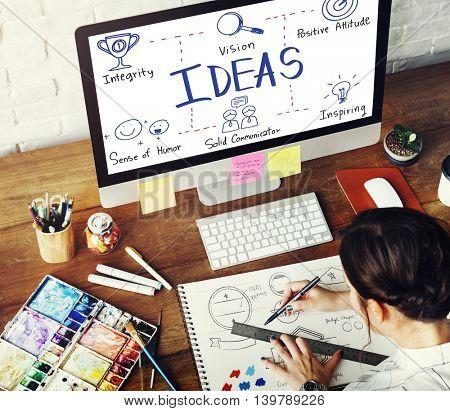 Ideas Vision Positive Attitude Inspiring Concept
