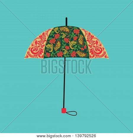 Vector background umbrella decorated with autumn floral ornaments . Can be used for cards invitations fabrics wallpapers ornamental template for design and decoration