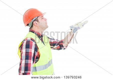 Romantic Constructor Sending A Kiss