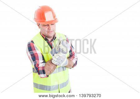 Male Builder Having Wrist Pain
