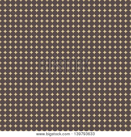 Seamless geometric vector pattern. Modern ornament with golden stars