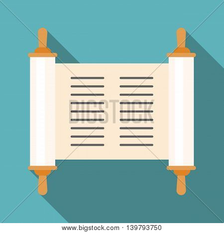 Vector torah with long shadow, flat design