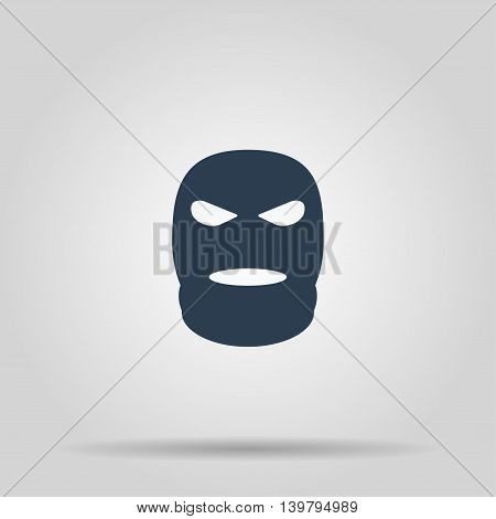 Balaclava Terrorist Military Mask Simple Icon.