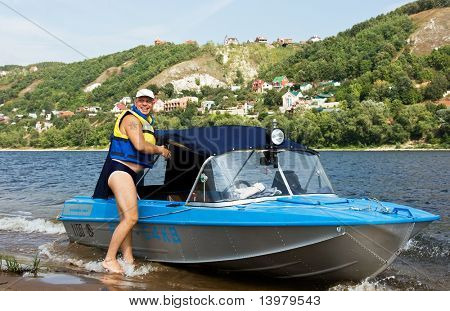 The rescuer and his motor-boat