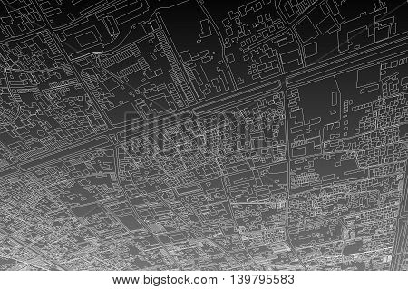 city map background, abstract transportation illustration lines