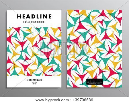 business brochure template or layout design flyer in A4 size with abstract triangles on background. stock vector illustration eps10