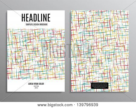 business brochure template or layout design flyer in A4 size with abstract shapes on background. stock vector illustration eps10