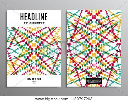 business brochure template or layout design flyer in A4 size with abstract pattern on background. stock vector illustration eps10