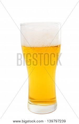 beer lager light  isolated on white background