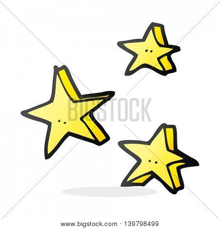 freehand drawn cartoon decorative doodle stars