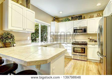 White Kitchen Room Interior