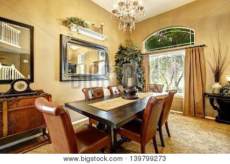 Dining Room Interior In Luxury House