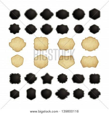 Set of vintage frames for emblems labels insignia