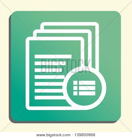 Files Detail Icon In Vector Format. Premium Quality Files Detail Symbol. Web Graphic Files Detail Si