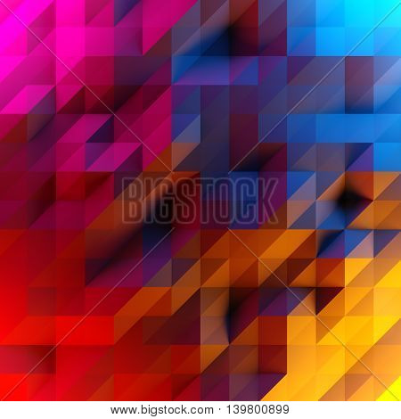 Abstract Background Of Low Poly Triangles. 3D Render Image.