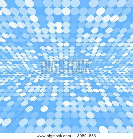 Blue abstract circles as a background. Vector illustration of the EPS10.
