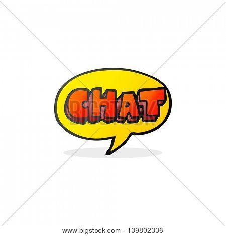 freehand drawn cartoon chat symbol