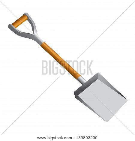 Vector stock of industrial shovel isolated on white background